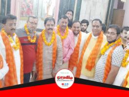 भाजपा नेता आलोक सिसोदिया का भव्य स्वागत, लोगों ने दी बधाई